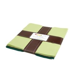 "Kaufman Kona Solids Spring Meadows 10"" Layer Cake"