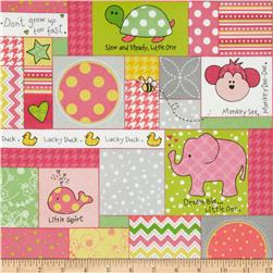 Kimberbell Little One Flannel Too! Flannel Allover Patch Pink