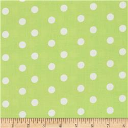 Baby Talk Polka Dots Green/White