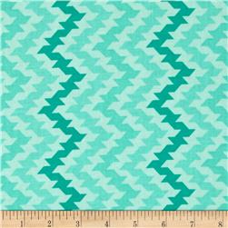 Moda Giggles Giggle Goes The Stripe Firecracker Turquoise