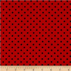 Timeless Treasures Graphic Floral Lady Bug Dot