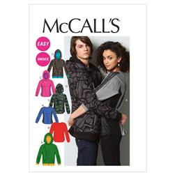 McCall's Misses'/Men's Tops and Jacket Pattern M6614 Size XM0