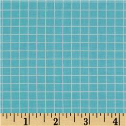 Citrus 1/4'' Grid Aqua Fabric