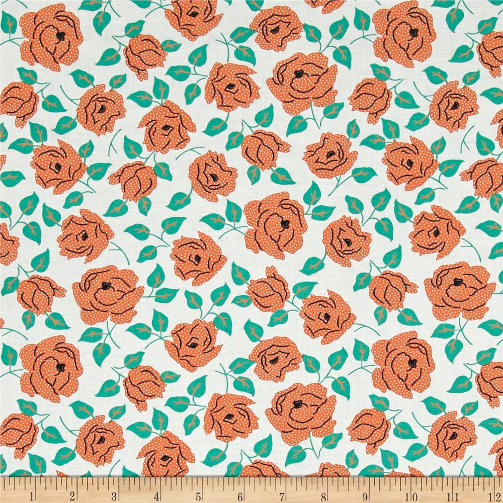 Sweet Florals Dotted Rose White