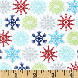 Moda Folk Art Holiday Flakes Multi