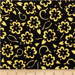 She Who Sews Floral Black