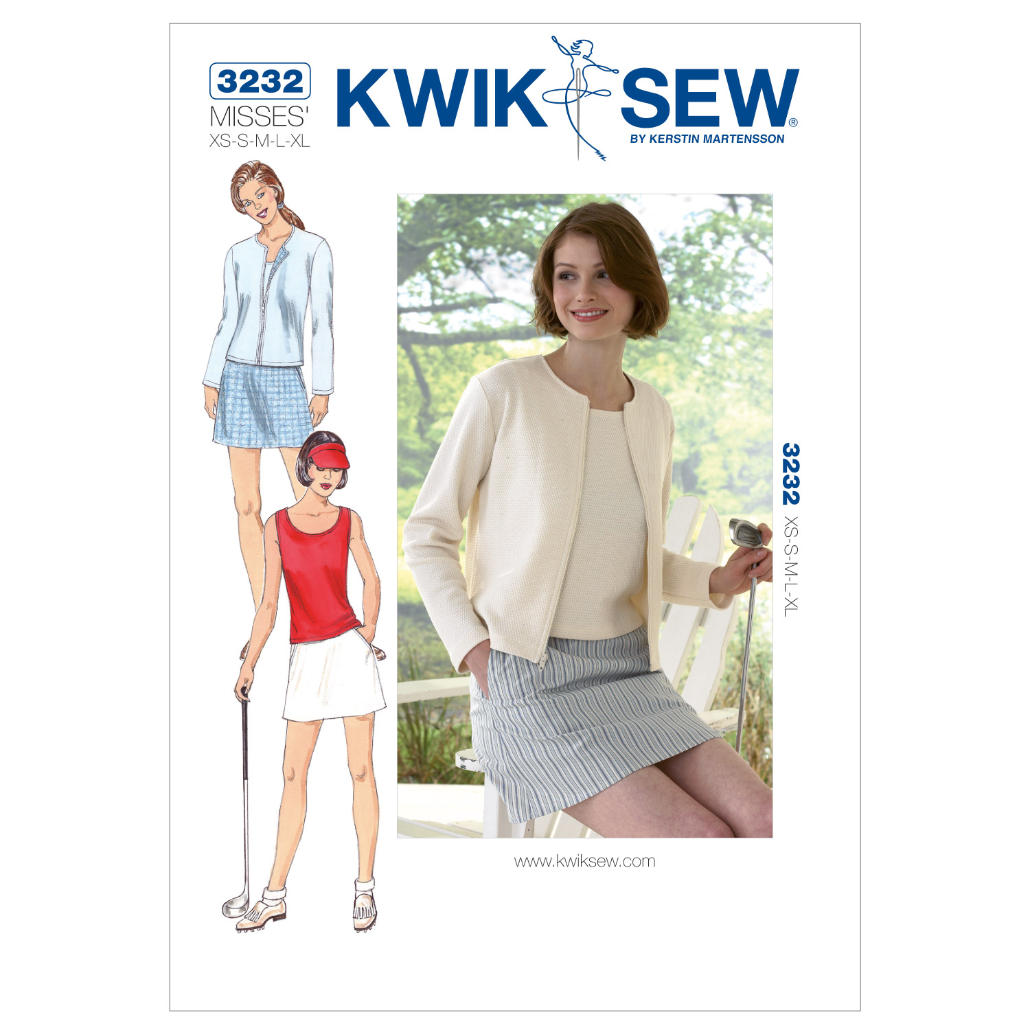 Kwik Sew Skort Top & Cardigan Pattern