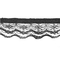 "1"" Lace Trim Black"