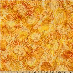 Bali Batik Sunflowers Daffodil Yellow