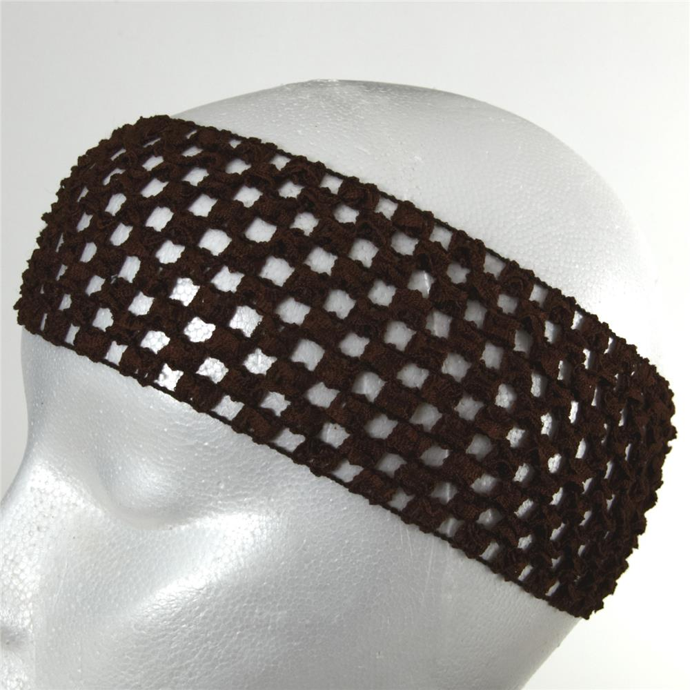 "2 3/4"" Crochet Headband Chocolate"