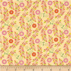 Timeless Treasures Boho Safari Floral Vine Yellow