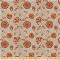 Fabricut Dory Floral Embroidered Sienna