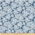 Floral Perspective Flower Petals Ice Blue