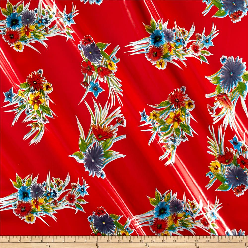 Oilcloth Ojai Red