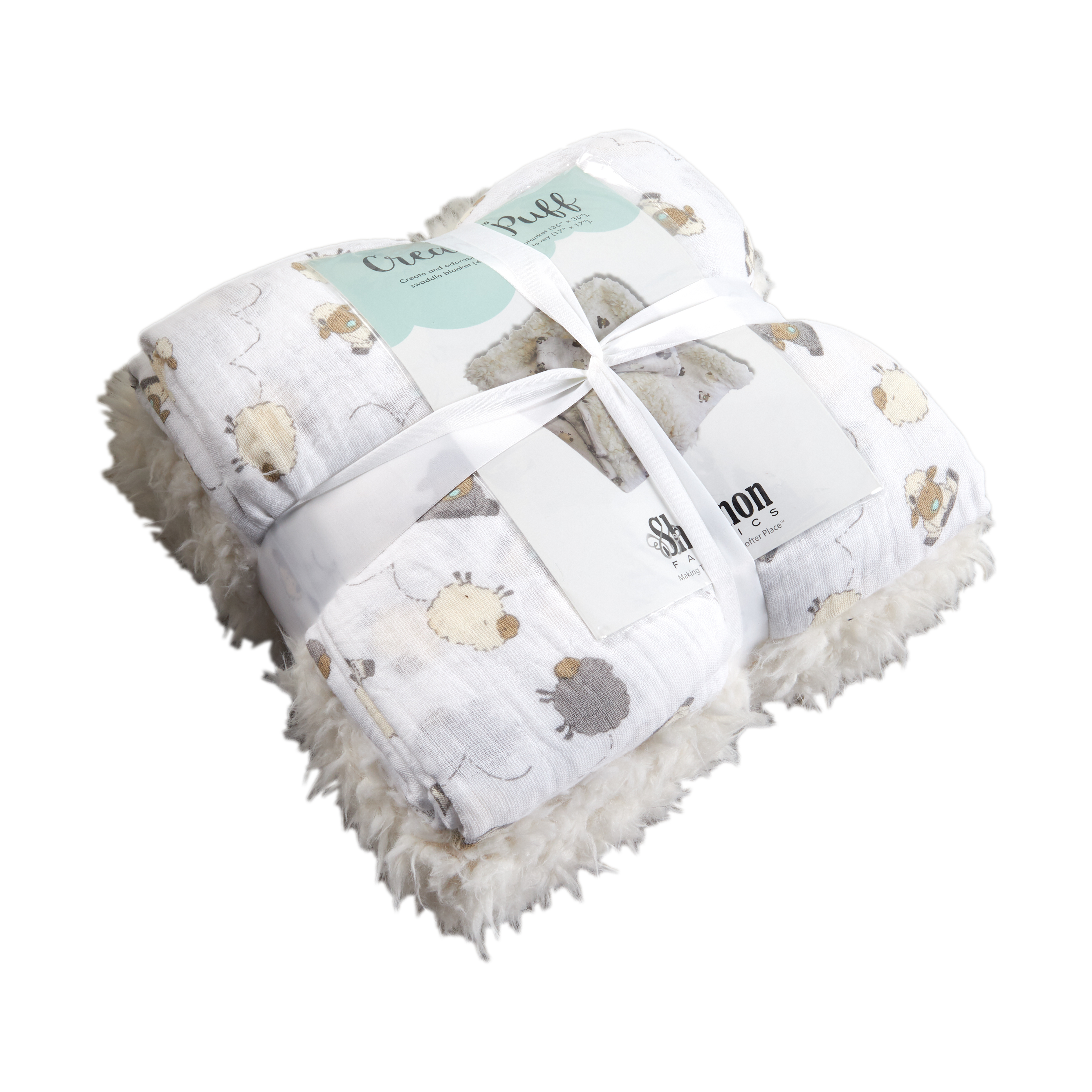 Shannon Patty Cakes Swaddle Gift Double Gauze Minky Set Kit Cream Puff by Shannon in USA