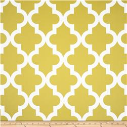 RCA Trellis Blackout Drapery Fabric Lemon
