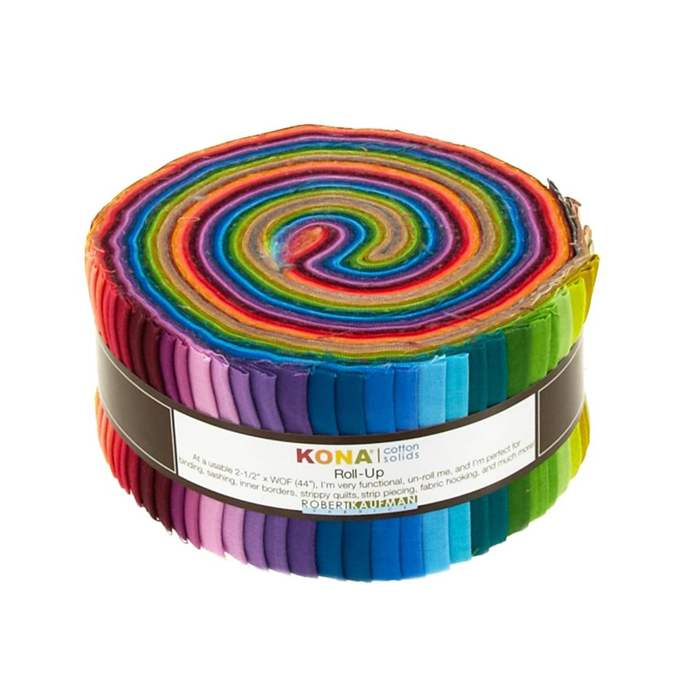 "Kona Cotton New Solids 2.5"" Roll Up"