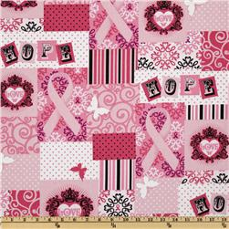 Ribbons of Hope Patchwork Pink