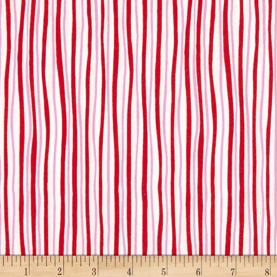 Kanvas Funny Bunnies Wavy Stripe Red/Pink