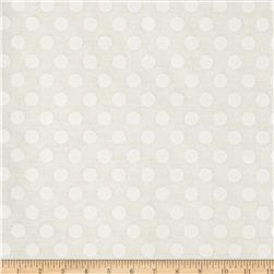 Michael Miller Kiss Dot Snow Fabric