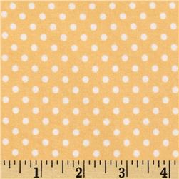Riley Blake A Beautiful Thing Flannel Dot Orange
