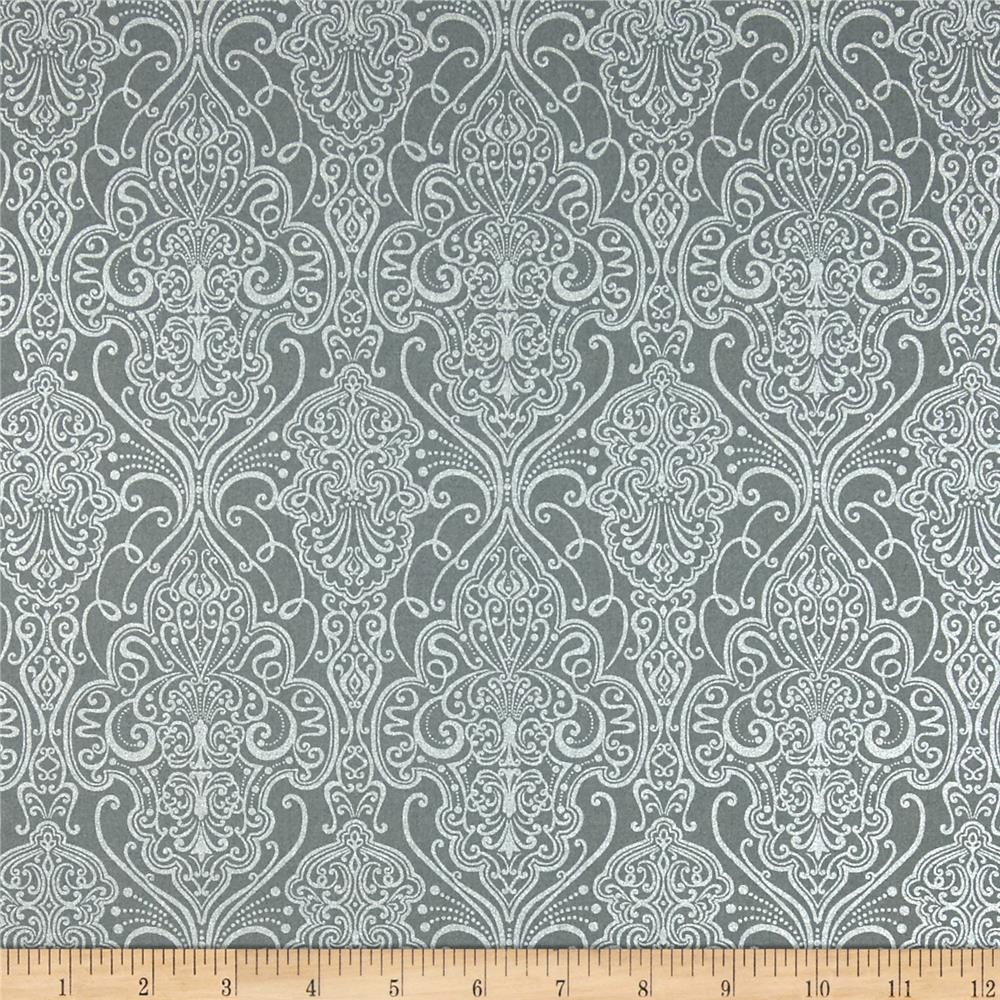 Pearle Silver Opalescent Damask Pewter