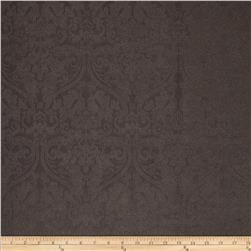 Ramtex Faux Leather Damask Pewter