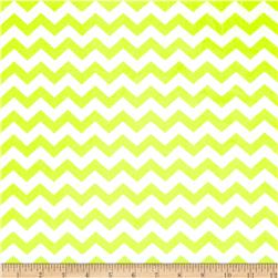 Minky Hytail Chevron Neon Yellow