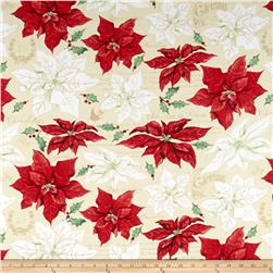 Christmas Joy Large Floral Tan