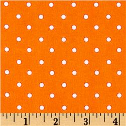 Zoo Mates Flannel Small Dot Orange
