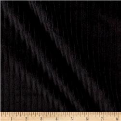 Telio Stripe Minky Velour Black