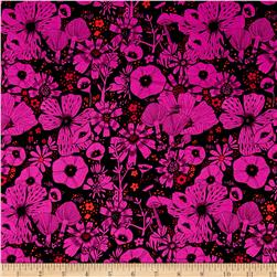 Cotton & Steel Cat Lady Rayon Challis Hiding Spot Purple