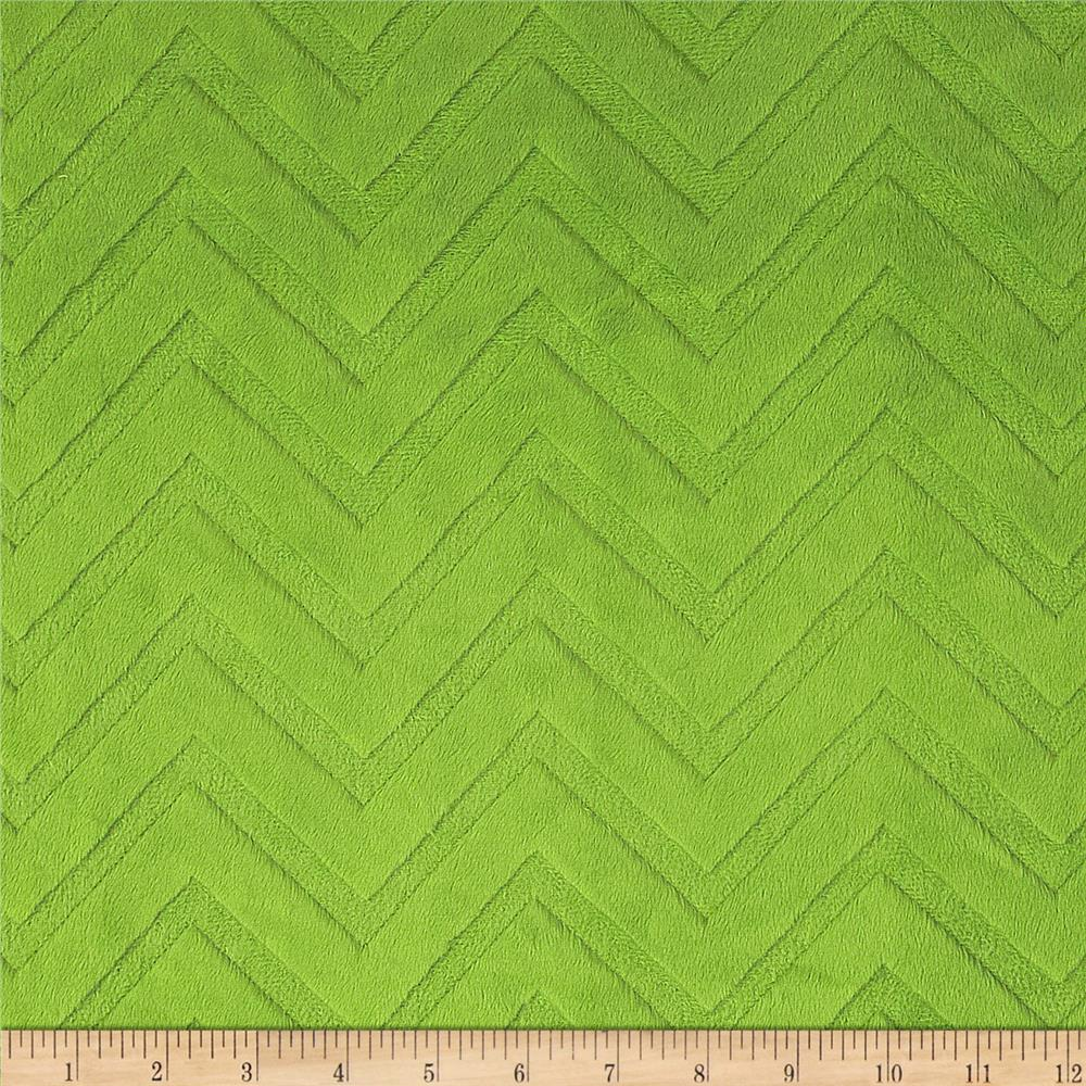 Shannon Minky Cuddle Embossed Chevron Jade