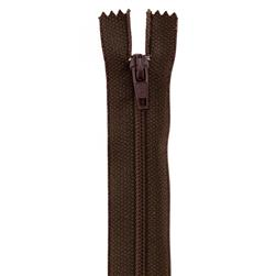 14'' Poly All Purpose Zipper Cloister Brown