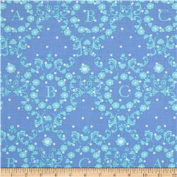 Michael Miller Cynthia Rowley Oh Baby ABC Scroll Blue