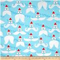 Kanvas Winter Novelty Ho Ho Ho Glitter Turquoise