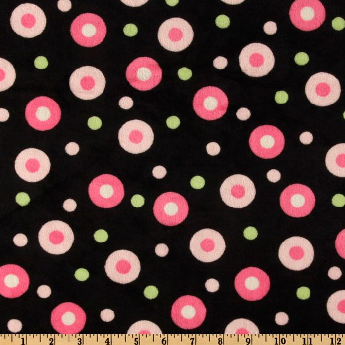 Minky Cuddle Space Black/Lime