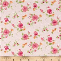 Rose Garden Flannel Pink