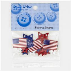 Dress It Up Embellisment Buttons  Patriotic Shapes