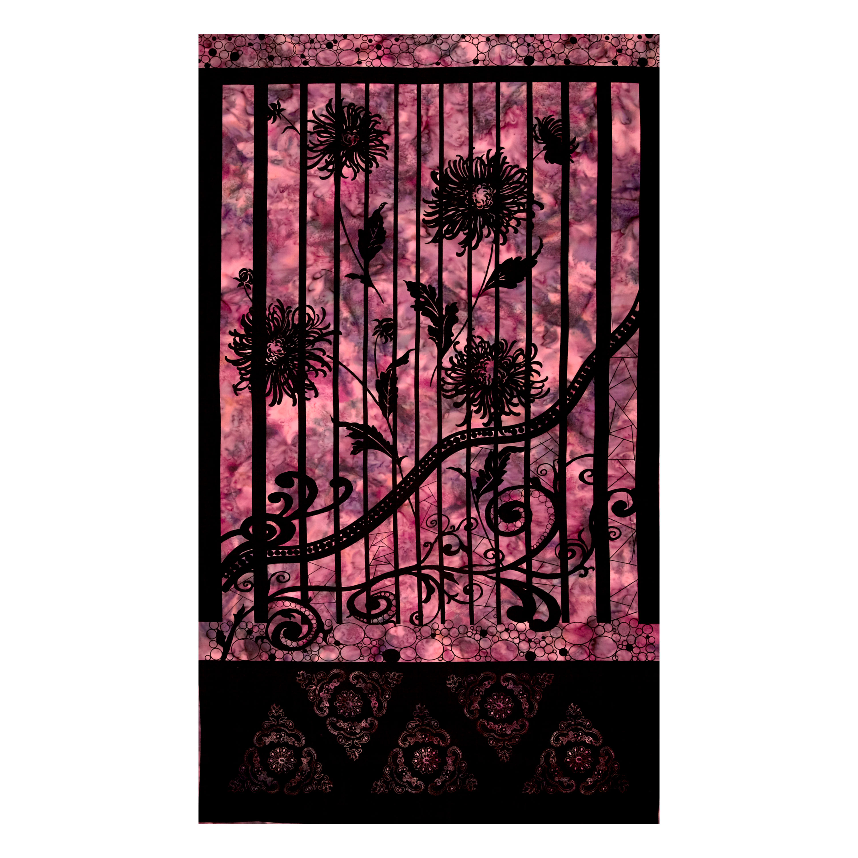 INOpets.com Anything for Pets Parents & Their Pets Banyan Batiks Shattered Garden Shattered Garden 24'' Panel Pink Fabric