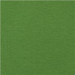 Basic Cotton Baby Rib Knit Solid Pea Green
