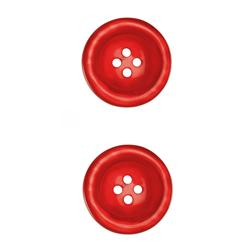 "Riley Blake Sew Together 1 1/2"" Pearl Button Red"