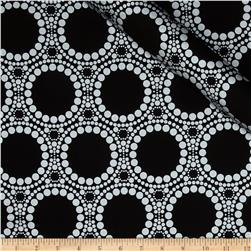 Orbit Metallic Large Circle Dot Silver/Black