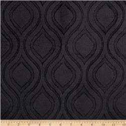 Premier Prints Embossed Marquise Cuddle Black Fabric