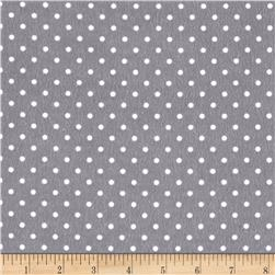 Timeless Treasures Flannel Dot Pewter