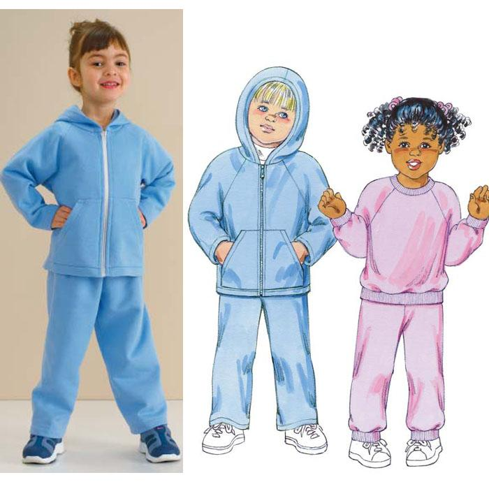 Kwik Sew Toddler's Sweat Shirts & Pants Pattern