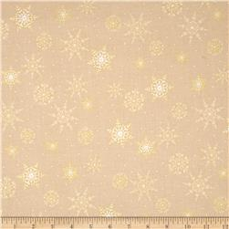Jolly Old St. Nick Metallic Snowflakes Cream