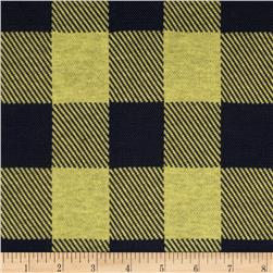 Yarn Dyed Plaid Double Knit Fabric Navy