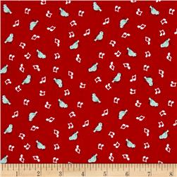 Penny Rose Shabby Strawberry Birds Red