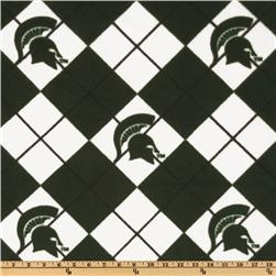 Collegiate Fleece Michigan State Argyle Dark Green